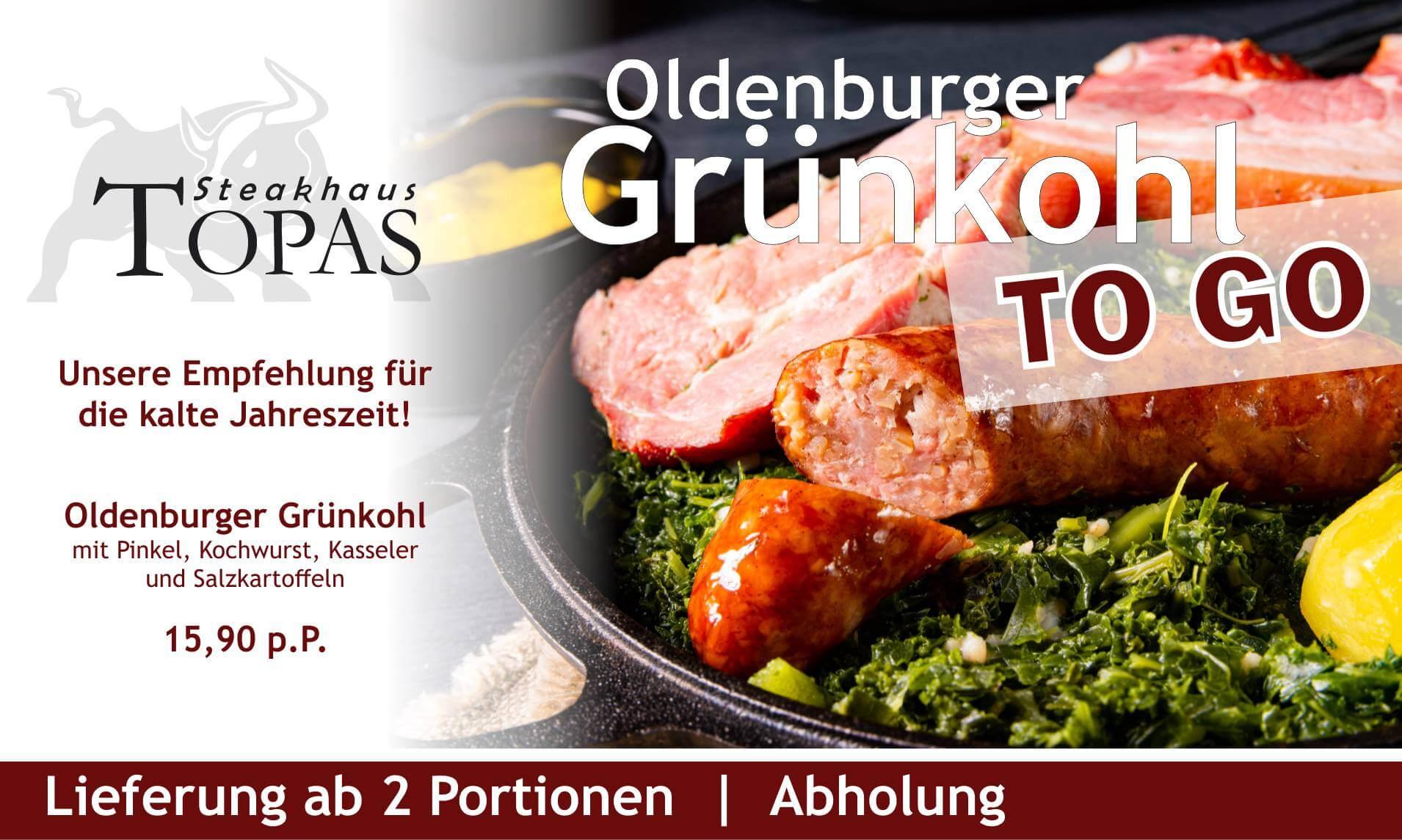 Grünkohl zum Mitnehmen und Grünkohllieferung Oldenburg